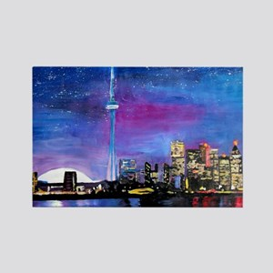 TorontoToronto Skyline at Night Magnets