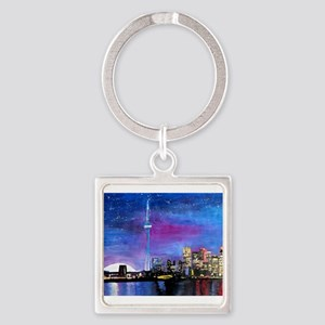 TorontoToronto Skyline at Night Keychains