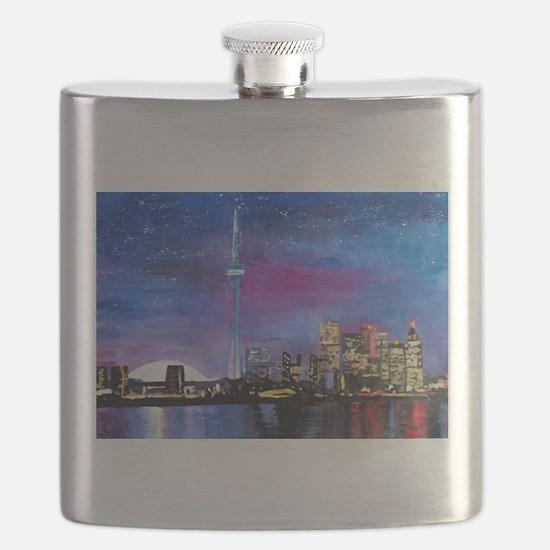 TorontoToronto Skyline at Night Flask