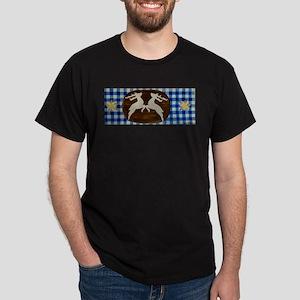 Oktoberfest - Deer With Gentian On Blue Wh T-Shirt
