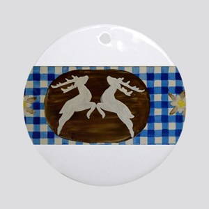 Oktoberfest - Deer With Gentian O Ornament (Round)