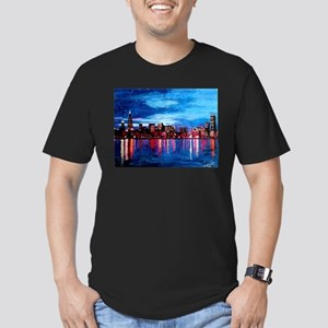 Chicago Skyline At Night T-Shirt