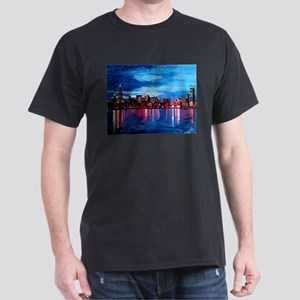 Chicago Skyline At Night T-Shirt