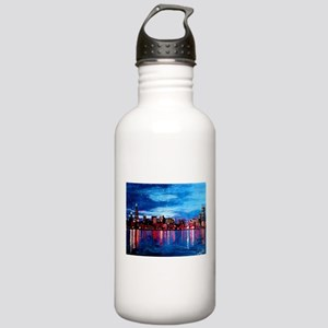 Chicago Skyline At Nig Stainless Water Bottle 1.0L