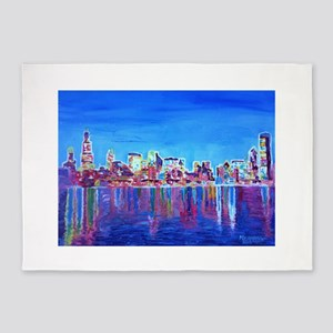 Chicago Skyline 5'x7'Area Rug