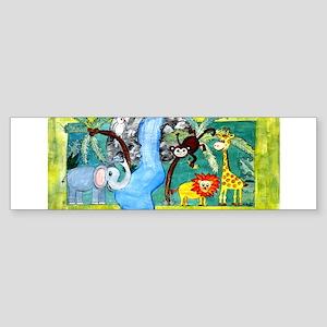Animal Jungle Bumper Sticker