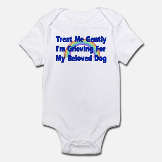 Dog Over Rainbow Bridge Infant Bodysuit