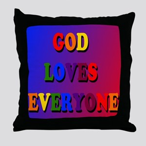 God loves everyone (rainbow) Throw Pillow