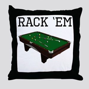 Rack Em Billiards Throw Pillow