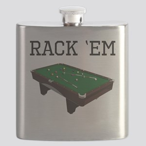 Rack Em Billiards Flask
