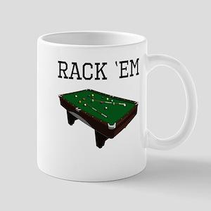 Rack Em Billiards Mugs