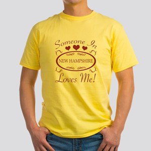 Somebody In New Hampshire Loves Me Yellow T-Shirt