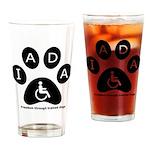 IADA logo Drinking Glass