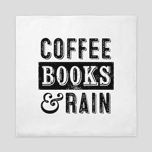 Coffee Books and Rain Queen Duvet