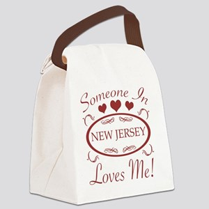 Somebody In New Jersey Loves Me Canvas Lunch Bag