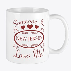 Somebody In New Jersey Loves Me Mugs