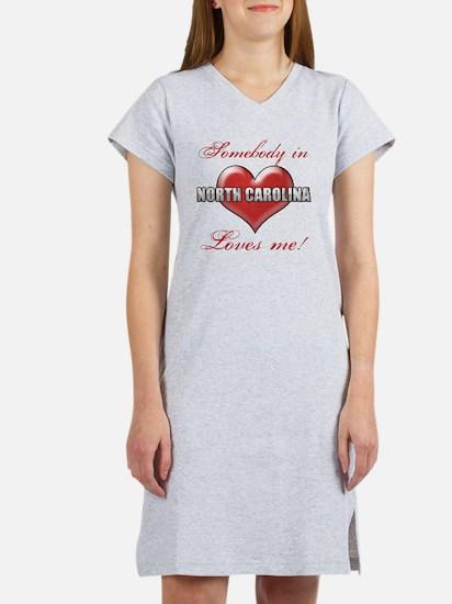 Somebody In North Carolina Love Women's Nightshirt