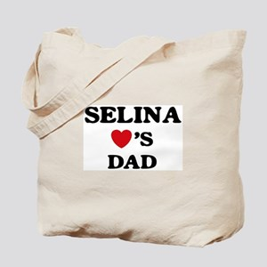 Selina loves dad Tote Bag
