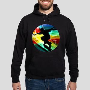 Skateboarder in Criss Cross Lightnin Hoodie (dark)