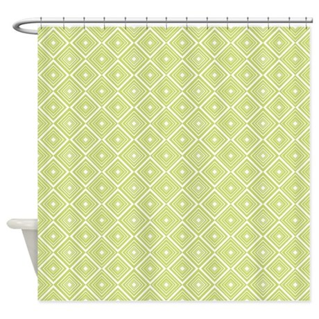 diamond pattern green and white shower curtain by cutetoboot. Black Bedroom Furniture Sets. Home Design Ideas