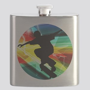 Skateboarder in Criss Cross Lightning Flask