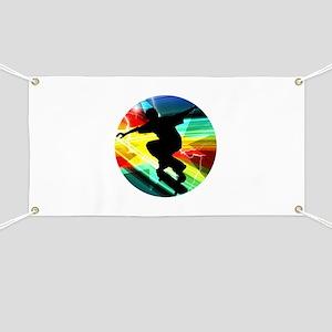 Skateboarder in Criss Cross Lightning Banner