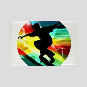 Skateboarder in Criss Cross Lightning Magnets