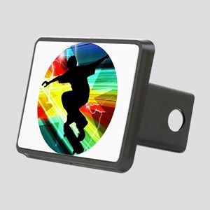 Skateboarder in Criss Cros Rectangular Hitch Cover