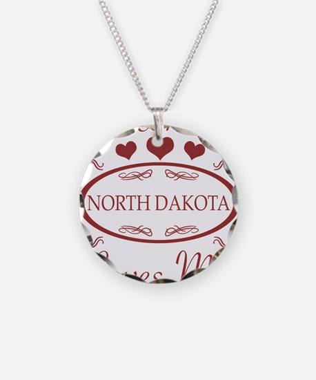 Somebody In North Dakota Lov Necklace
