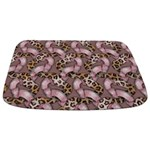 Leopards and Lace - Pink Bathmat
