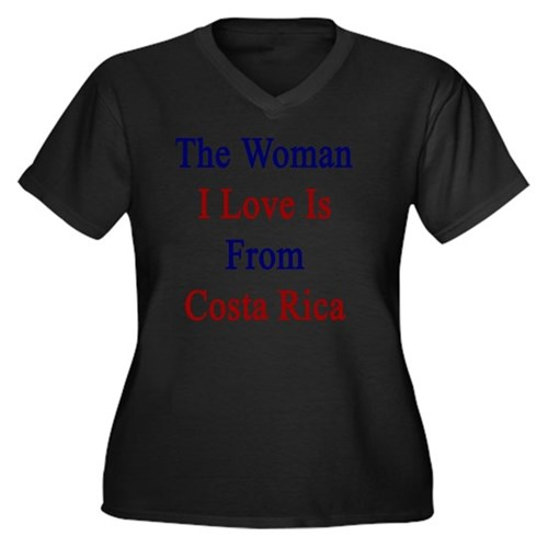 The Woman I  Women's Plus Size V-Neck Dark T-Shirt