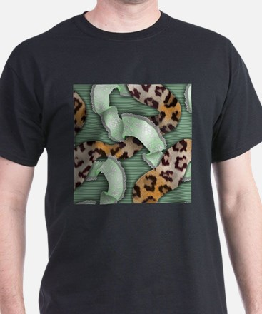 Leopards'n Lace - Green T-Shirt
