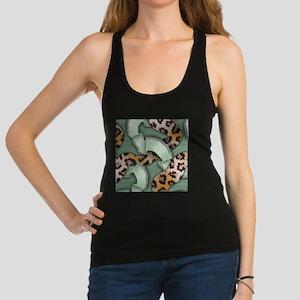 Leopards'n Lace - Green Racerback Tank Top