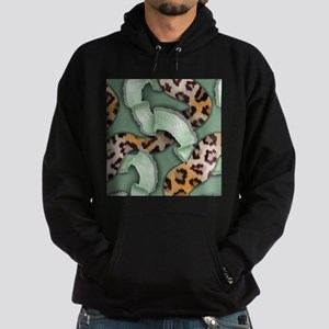 Leopards'n Lace - Green Hoodie (dark)