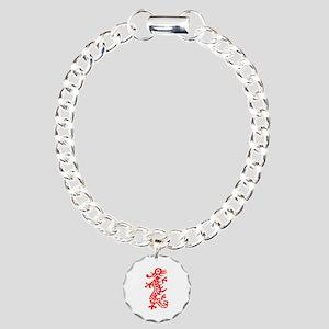 Mah Jong Red Dragon Charm Bracelet, One Charm