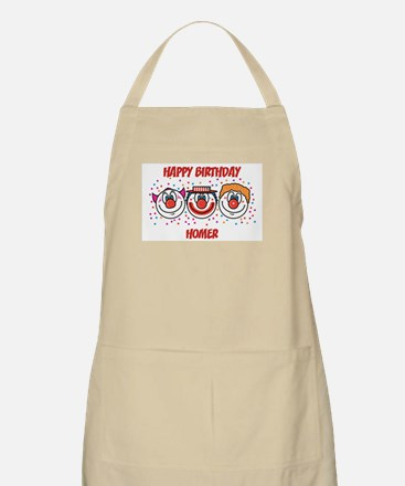 Happy Birthday HOMER (clowns) BBQ Apron
