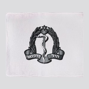 Israel - Medical Corps Hat Badge - Throw Blanket