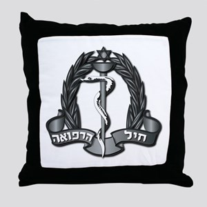 Israel - Medical Corps Hat Badge - N Throw Pillow