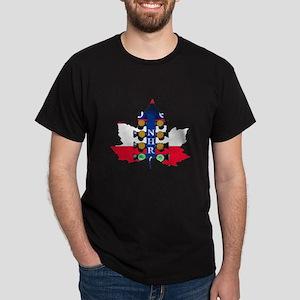 Maple Leaf Christmas Tree T-Shirt