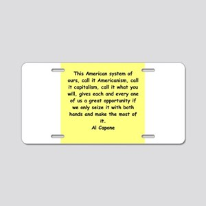 8 Aluminum License Plate