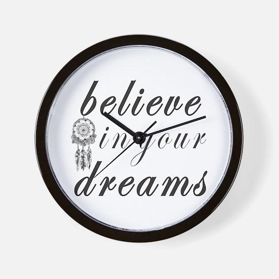 Believe Dreams Wall Clock