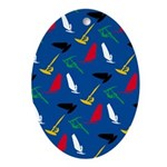 Windsurfing Ornament (Oval)