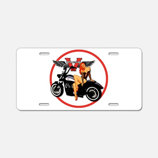 Cute Motorcycle Aluminum License Plate