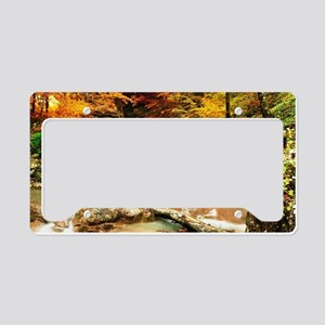 Autumn Stream License Plate Holder