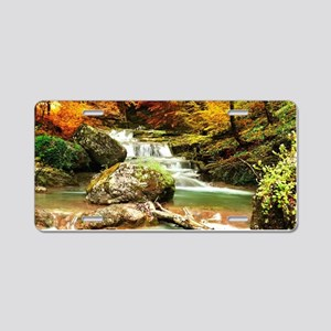 Autumn Stream Aluminum License Plate