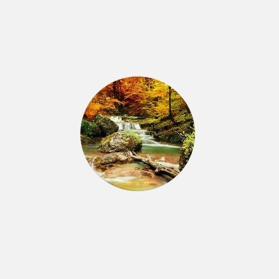Autumn Stream Mini Button