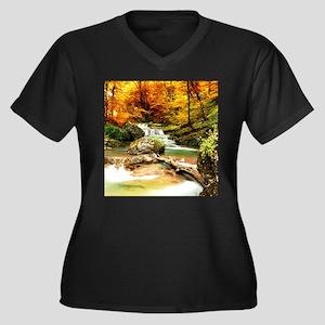 Autumn Stream Plus Size T-Shirt
