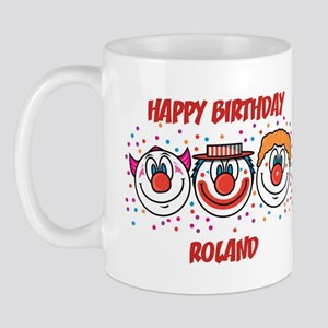 Happy Birthday ROLAND (clowns Mug