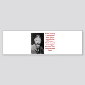 george bernard shaw quote Sticker (Bumper)