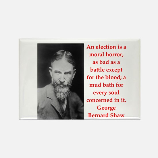 george bernard shaw quote Rectangle Magnet